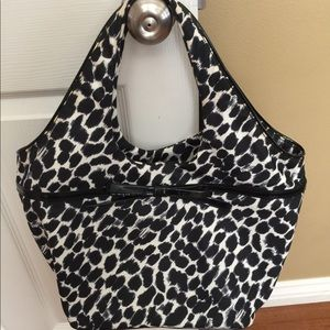 Kate Spade - Black/Cream Leopard Animal Print Tote